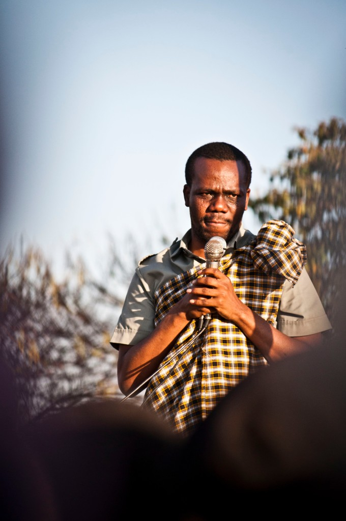 Zitto Kabwe speaking at a rally in Karatu on September 30 2012.